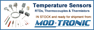 Temperature sensors ready to ship from Mod-Tronic